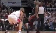 Chris Bosh Flops Following A Phantom Elbow (Video)