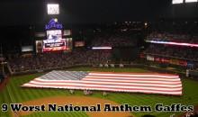 9 Worst National Anthem Gaffes (Videos)