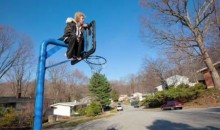 Delaware Woman Sits On Son's Basketball Net To Prevent State From Taking It Away (Video)