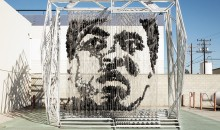 Must See: Muhammad Ali Artwork Made Of Punching Bags (Pics)
