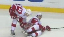 Niklas Kronwall Shovels Patrick Eaves Off The Ice (Video)