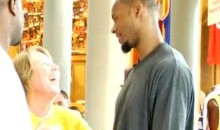 Watch Rashard Lewis Interact With A Drunk Woman (Video)