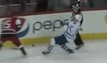 Referee Delivers Headshot To Leafs' Joffrey Lupul (Video)