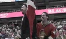 "Two Sens Fans Dance To Rebecca Black's ""Friday,"" Achieve JumboTron Fame (Video)"