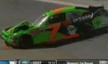 Danica Patrick Crashes, Curses Her Way Out Of The Scotts EZ Seed 300 (Video)