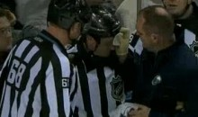 Kelly Sutherland Proves That NHL Referees Are Tough Too (Videos)