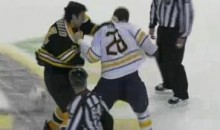 Frozen Fisticuffs Fight Of The Night — McQuaid vs. Gaustad — 3/10/11