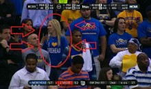 Blond Morehead Fan Expresses Love For 'Morehead' (Pic)