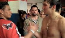 DJ Pauly D Embraces A Shirtless Alex Ovechkin (Video)