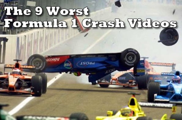 The 9 Worst Formula 1 Crashes Videos