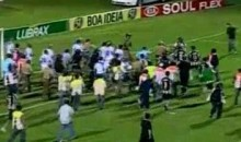 Brazilian Cup Game Ends In Massive Brawl (Video)