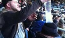 Cup Stacking On Sleeping Drunk Men Can Be Seen At Yankee Stadium (Video)