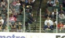 Drunk Female Treats Railing At A Hockey Arena Like A Stripper Pole (Video)