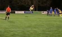 Here Is A Penalty Kick With A Back Flip Follow-Through (Video)