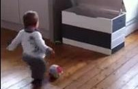 One-And-A-Half Year Old Kid Has A Soccer Trick Shot Video (Video)