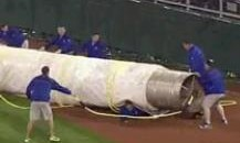 Royals Grounds Crew Member Gets Flattened By Tarp During Rain Delay (Video)