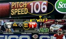 Aroldis Chapman Throws A 106 MPH Fastball, Or Was It 105? (Video)