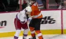 Frozen Fisticuffs Fight Of The Night — Coburn vs. Boyle — 4/3/11