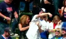 Female Cubs Fan Gets A Beer Shower (Video)