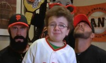 "Keenan Cahill Teams Up With The Giants' Brian Wilson And Cody Ross To Sing ""Dynamite"" (Video)"