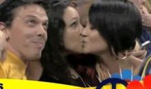 Two Females Kiss On The OKC Thunder's Kiss Cam (GIF)
