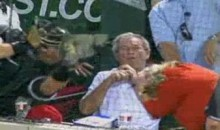 A.J. Pierzynski Saved George Bush From A Foul Ball Last Night (Video)