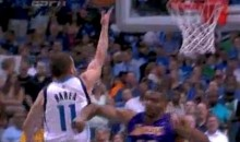 Andrew Bynum Gets Ejected For Dirty Elbow On J.J. Barea, As Lakers Get Ejected From Playoffs (Video)