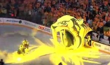 Cameraman Gets Run Over During Predators Introduction (Video)