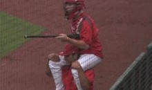 College Baseball Players Take Part In Some Rain Delay Jousting (Video)
