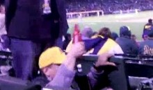 Watch This Drunk Fan At The A's Game Fall Out Of His Chair (Video)