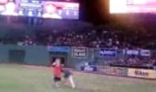 Drunk Fan Gets 'Jacked Up' By Red Sox Security Guard (Video)