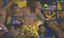 Female Soccer Fan Flashes Crowd In Mexico (SFW Video)