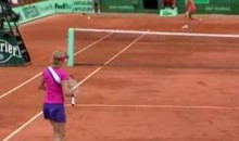 Kim Clijsters Provides Us With The Luckiest Tennis Point You Will Ever See (Video)