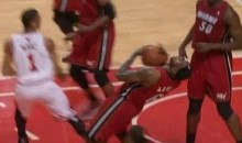 Check Out LeBron James' Oscar-Worthy Flop (Video)