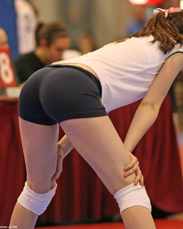 Volley ball girls in spandex