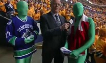 The Canucks' Green Men Make The Trip To Nashville (Video)