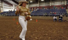 10 Rediculous Photos Of Rodeo Queens Riding Stick Horses Because Of A Horse Herpes Outbreak (Gallery)