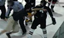 Hockey Fan Jumps On The Ice And Fights A Player (Video)