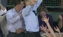 Red Sox Fan Catches A Foul Ball With His Beer (Video)