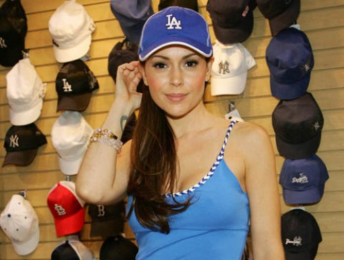 Alyssa Milano has dated a LOT of people, so to call her a sports groupie ...
