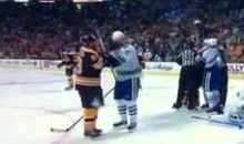Watch Daniel Sedin Just Stand There And Take Punches From Brad Marchand (Video)