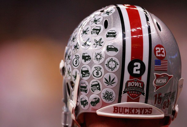 Picture Of The Day The Buckeyes Have New Helmet Stickers