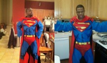 Ray Rice And Cory Redding Are Wearing Superman Snuggies (Pic)