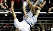 A Fan Nearly Fell Over The Railing At Chase Field During The Home Run Derby (Video)