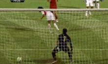 Backwards Penalty Shot Got UAE's Awana Diab In Trouble (Video)