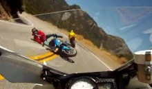 Head-On Motorcycle Crash Caught On Tape (Video)
