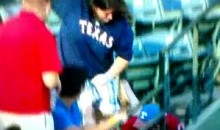 Woman Barrels Over Man For A Foul Ball (Video)