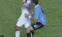 Peru's Juan Manuel Vargas Delivers An Elbow To The Face (Video)