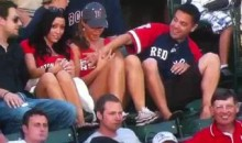 Red Sox Fan Executes Television Boob Grab On Girlfriend (Video)