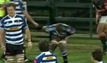 Rugby Ball To The Groin (Video)